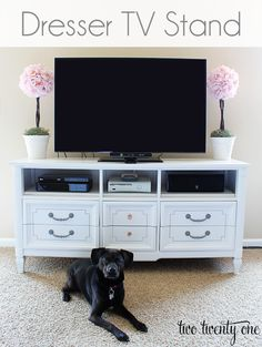 $50 Dresser Turned TV stand!