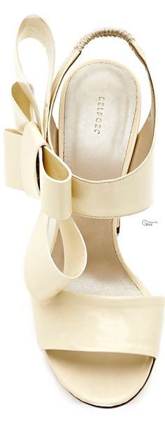 DELPOZO 2014, Patent-Leather Bow-Detail Sandals §