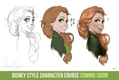 Disney Style Character Course by ConceptCookie  Not too shabby.