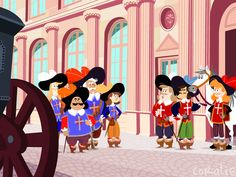 cool art for cool kids The Three Musketeers, Minnie Mouse, Disney Characters, Fictional Characters, Animation, Cartoon, Illustrations, Friends, Cakes