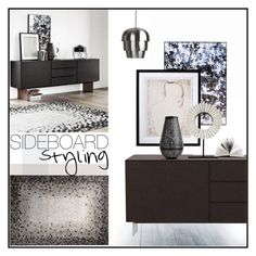 """Sideboard Styling"" by szaboesz ❤ liked on Polyvore featuring interior, interiors, interior design, home, home decor and interior decorating"