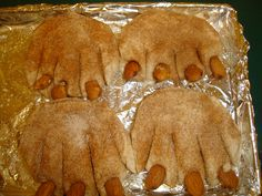 Hibernation bear claw biscuits with almond claws