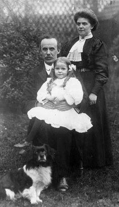 Reverend Hartley, who was lost in the 'Titanic' shipping disaster, with his niece and daughter who both survived the tragedy. This photo was...