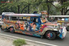 "Filipino jeepney - the original ""pimp my ride"" Olongapo, Visit Philippines, Jeepney, Exotic Beaches, Tropical Beaches, Filipino Culture, Baguio, Island Beach, My Heritage"
