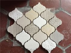 Guizhou Wood Grain Marble Arabesque Marble Mosaic Tile - Xiamen Alot Stone Co. *like the color Mosaic Shower Tile, Marble Mosaic, Backsplash Arabesque, Arabesque Tile Backsplash, Tiling, House Tiles, Kitchen Backsplash, Backsplash Ideas, Kitchen Redo