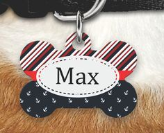 Personalized Dog Tag - Dog ID Tag - Personalized Bone Dog Tag - Custom Pet ID Tag-Nautical Pet Tag-Personalized Pet Gifts- Dog Tags For dogs by MysticCustomDesignCo on Etsy