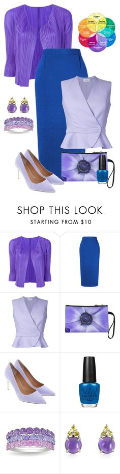 """""""Color Wheel Study - Analogous Color"""" by crazy4orcas ❤ liked on Polyvore featuring Pleats Please by Issey Miyake, Roland Mouret, Carven, Tory Burch, OPI, Ice and Mia & Beverly"""