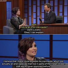 Gosh I love her! She's so funny! AND amazing! She's on point about the mermaid thing though.