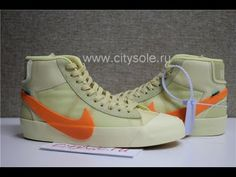 PK God Off White x Nike Blazer Mid Orange All Hallows Eve Retail Materials  Ready from CitySole ru 0479a5d7b