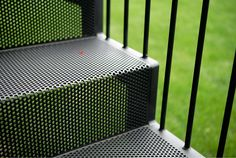 folded perforated metal