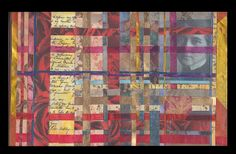 """""""The Mystery of Violet Oakley"""", Shelby Pizzarro. Woven Collage"""