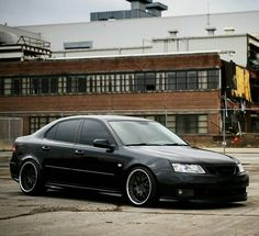 Saab 9-3 Aero as black as the night, it's so gorgeous!