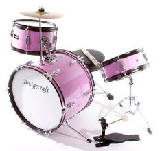De Rosa DRM316-MPK Junior 3 Piece 16 Inch Drum Set with Chair, Pink by De Rosa. $139.72. De Rosa Junior Drum Set is the ultimate drum kit for any young aspiring drummer. This set comes with everything your drummer will need to start playing.  Built using real drum specifications the De Rosa Junior drum set is made using Birch and features authentic metal hardware. The materials used in these sets are equivalent to materials used in higher priced adult Drum Sets sets.  This set re...