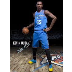 53e3cbac5ae7 NBA x Enterbay Kevin Durant 1 6 Scale 12 Inch Figure (blue   white)