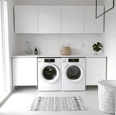 Lovely Laundry Room Design Ideas With Scandinavian Style Scandinavian Style, Scandinavian Interior, Modern Laundry Rooms, Laundry In Bathroom, Interior Design Living Room, Living Room Designs, Laundry Room Inspiration, Laundry Room Storage, Small Laundry