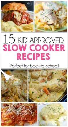 15 Kid-Approved Slow Cooker Recipes – Perfect for back-to-school! 15 Kid-Approved Slow Cooker Recipes – Perfect for back-to-school! Slow Cooking, Slow Cooked Meals, Cooking Recipes, Crockpot Recipes For Kids, Fast Crockpot Meals, Cooking Kids, Freezer Meals, Kid Friendly Crockpot Recipes, Whole30 Recipes