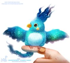 Daily Painting 1750# Celestatiels - Starry Night  Really regretting the knuckle placement there. I have to seriously study human hands some more, it's been a while…  Daily Paintings Book now available: http://ForgePublishing.com/shop  For full res WIPs,...