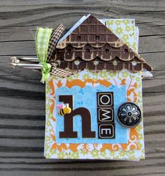 Home Mini Album from Jenifer Harkin (via Jillibean Soup).  Click on the link to see the rest of the pics.
