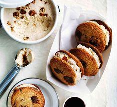 Australian Gourmet Traveller recipe for choc-chip cookies with salted peanut semifreddo.