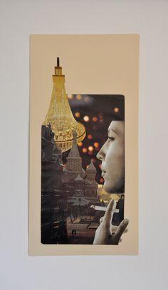 Original 'Daydreams #2' | handcut and assembled found image collage | JLWojinski/doublecutdesign