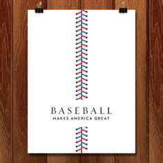 Baseball by Brandon Kish - Print - What Makes America Great - Creative Action Network