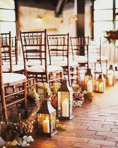 What guest wouldn't get excited about what's to come when the walk into a wedding ceremony  venue this pretty? #rustic #wedding #countrywedding #weddingday #weddingdaystyle #weddingdecor #weddingplanner #party #candles #aisle by weddingbuzzau