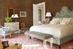 Bunny Williams Decorates a Virginia House : Interiors + Inspiration : Architectural Digest ~ Guest Room