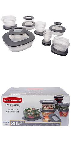 Rubbermaid Brilliance Food Storage Container Set 22 Piece Clear Food Storage Containers 20655 Rubbermaid Premier 30 Piece Food