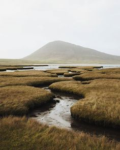 This is the marsh lands near Northton on the Isle of Harris. Aldea Global, Landscape Photography, Travel Photography, Isle Of Harris, Salt Marsh, Outer Hebrides, Biomes, Salt And Water, Land Scape