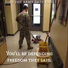 Military humor. I love all branches♥ we each have our own branch jokes but we are all one!