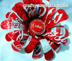 You Plant It CocaCola Soda Can Flower Super by craftymountainmama, $15.00