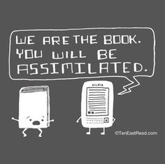 Kindle Will Assimilate Your Books Ladies Tee (Charcoal). $20.00, via Etsy.