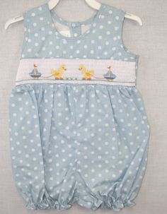 412141 A141 Baby Girl Clothes  Infant Smock  Smocked by ZuliKids