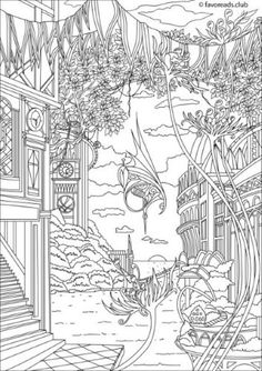 fantasy coloring pages for adults # 45