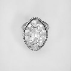 Ring Date:early 19th century  Culture:possibly Portuguese  Medium:Gold, white topaz (?)  Dimensions:Diam. 1 in. (2.5 cm)  Classification:Metalwork-Gold and Platinum Credit Line:Gift of Marguerite McBey, 1980