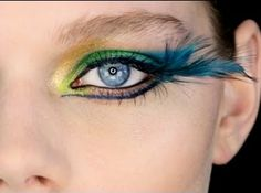Fantasy Peacock Eyes  I like the yellowish gold at the tear duct area and the underline is intriguing but a little too far /too close to the nose