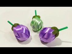 วิธีพับเหรียญโปรยทานมะเขือ ( Eggplant) -108 ribbon - YouTube