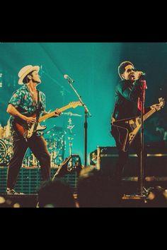 Bruno Mars and Lenny Kravitz