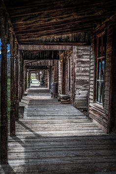 Boardwalk at a ghost town, Cody, Wyoming 2010.