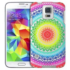 Samsung Galaxy S5 Rainbow Circle Mandala Case