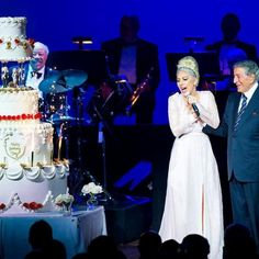"""""""Lady Gaga is so wonderful. She surprised me with a song and the best birthday cake ever for my birthday on our closing night. Unforgettable."""" - Tony Bennett"""