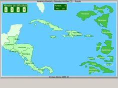 Países de América Central. Puzzle