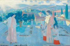 Maurice Denis (1870-1943) Annonciation à Fiesole (aux chaussons rouges), 1898  Huile sur toile - 78 x 117 cm Vente Drouot, 12 février 2014