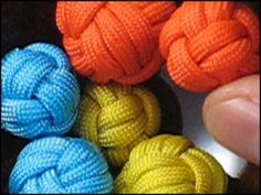 How to make these cute Paracord balls