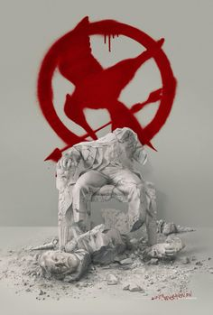 New poster mocking jay part 2! I love this bc I hate president snow