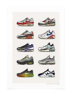 new style 5145c 26153 History of Air Max Collection. KickPosters. Arte CalzaturaNikeStampe SneakersScarpeEbayModa