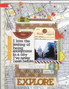 Love the quote, love the page by Geralyn for Studio Calico