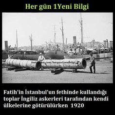 """Her gün 1Yeni Bilgi  on Twitter: """"Fatih'in İstanbul'un fethinde kullandığı toplar İngiliz askerleri tarafından kendi ülkelerine götürülürken / 1920 https://t.co/LTiueG2nFD"""""""
