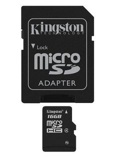 Professional Kingston 16GB MicroSDHC LG Lite with custom formatting and Standard SD Adapter! 32Mbps // Class 4