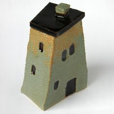 Small ceramic house-box--could be paired with a quick multicultural lesson--see colorful houses of Cape Town, South Africa, or Buenos Aires, Argentina